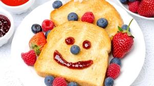 Berry Blueberry Bread Breakfast Face Funny Raspberry Strawberry 2048x1356 Wallpaper