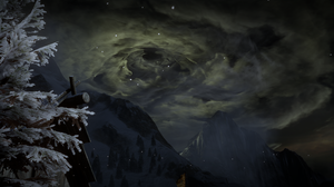 Dragon Age Dragon Age Inquisition Dark Background Fire Sky Game Clouds PC Gaming Video Game Landscap 2529x1436 Wallpaper