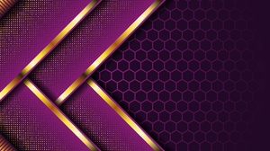 Artistic Hexagon Pattern Purple 3334x2167 Wallpaper