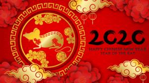 Chinese New Year Happy New Year Rat 5902x3927 Wallpaper