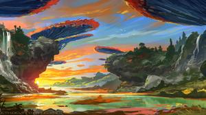 Fantasy Landscape 4324x2035 Wallpaper