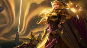 Artwork League Of Legends PC Gaming Video Game Art Video Game Girls Fantasy Art Fantasy Girl Leona L 1920x1170 wallpaper