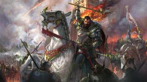 Armor Battle Horse Knight Warrior 2560x1440 Wallpaper