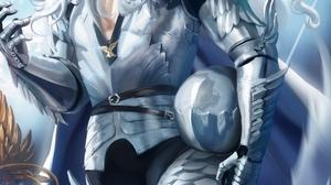 Berserk Anime Digital Art Artwork Men Armour White Hair Griffith Sakimichan Portrait Display 2528x3500 Wallpaper