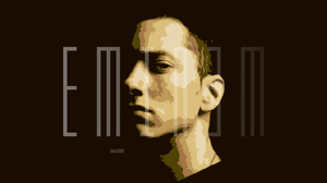 Artistic Digital Art Eminem Face Portrait Rapper Singer 3000x1688 Wallpaper