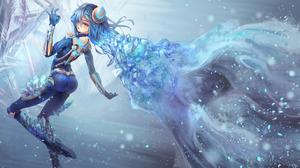 Ice Irelia League Of Legends 2082x1229 Wallpaper