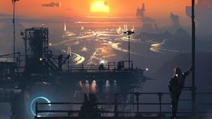 Science Futuristic Landscape 1600x2154 Wallpaper