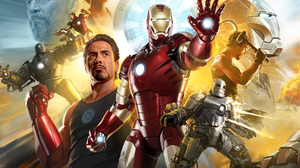 Gwyneth Paltrow Iron Man Iron Monger Jeff Bridges Obadiah Stane Pepper Potts Tony Stark 2048x1624 Wallpaper