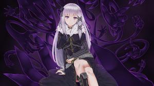 Emilia Re Zero 3840x2160 wallpaper