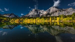 Mountain Lake Canada Alberta 3840x2160 wallpaper