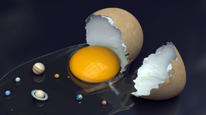 Artistic Egg Manipulation Solar Sun System Universe 1680x1050 wallpaper