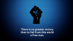 Blue Death Fist Motivational Quote 2560x1600 Wallpaper