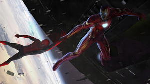 Avengers Iron Man Marvel Comics Spider Man 3840x1688 Wallpaper