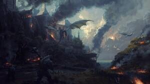 Dragon Castle 2560x1440 Wallpaper