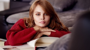 Anastasiya Scheglova Book Girl Model Redhead Russian Woman 2000x1335 Wallpaper