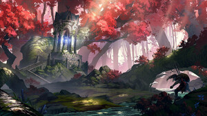 J Line Digital Fantasy Art Artwork Forest Colorful 1920x1084 wallpaper
