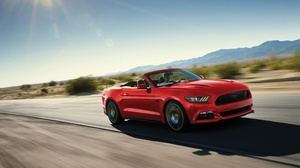 Cabriolet Car Ford Ford Mustang Muscle Car Red Car Vehicle 3840x2400 Wallpaper