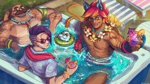 League Of Legends Riot Games MKUCHiMA Braum League Of Legends Sett League Of Legends Aphelios League 3840x2160 Wallpaper