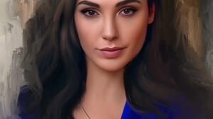Stam Quito Digital Art Artwork Drawing Fan Art Portrait Portrait Display Digital Painting Gal Gadot  2550x3012 Wallpaper