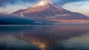 Japan Mount Fuji Reflection Volcano 2048x1363 Wallpaper