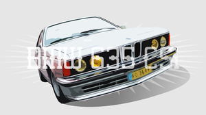 Artistic Bmw Car Digital Art Retro Vector Vintage Car White Car 3000x1688 Wallpaper