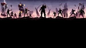 Avengers Avengers Infinity War Black Panther Marvel Comics Black Widow Bruce Banner Bucky Barnes Cap 7680x4320 Wallpaper