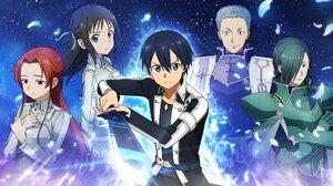 Anime Girls Anime Boys Sword Art Online Kirigaya Kazuto 1920x1080 Wallpaper