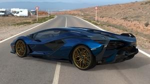 Lamborghini Lamborghini Sian Hypercar Sports Car 3D Graphics 3D 7680x5090 Wallpaper