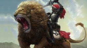 Armor Knight Lion Warrior 1920x1240 Wallpaper