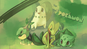 Arcko Bulbasaur Pokemon Bulbizarre Chikorita Germignon Grass Pokemon Green Pokemon Tortipouss Treeck 1423x800 Wallpaper