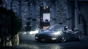 Pagani Car Sport Car Supercar Black Car Night 3600x2395 Wallpaper