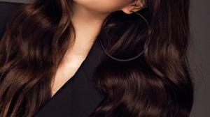 Pham Huong Women Model Vietnamese Women Asian Brunette Dark Hair Long Hair Simple Background Women I 1500x2250 Wallpaper