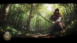 Kingdom Come Deliverance Artwork Knight Forest Bow And Arrow Archer Warrior 1920x1080 Wallpaper
