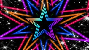 Colorful Digital Art Geometry Shapes Star 1920x1080 Wallpaper