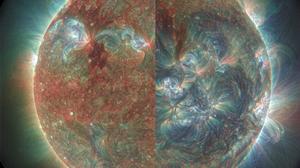 Sun Ultraviolet NASA Filter Photography Grain Split View Circle 2586x2500 wallpaper
