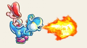 Yoshi Baby Mario Super Mario World 2 Yoshis Island 3840x2160 Wallpaper