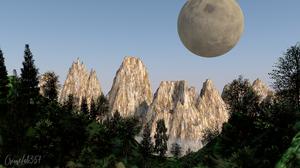 Landscape 3D Graphics Mountain Top 1920x1080 Wallpaper