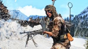 Battlefield V Machine Gun Soldier 3840x2160 Wallpaper