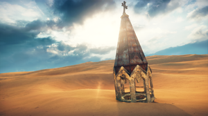Desert Embedded Structure Mad Max Game 1920x1080 Wallpaper