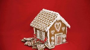 Cake Christmas Cookie Gingerbread House Red 1920x1280 Wallpaper