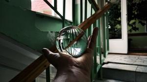 Ball Glass Design Glass Door Russia Hands Globe Sphere Stairs Door 4000x2992 Wallpaper