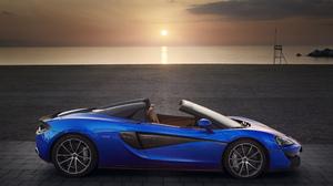 Blue Car Mclaren Mclaren 570s Spider Sport Car Supercar 5597x3731 wallpaper