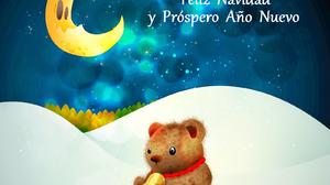 Bell Christmas Happy New Year Merry Christmas Moon New Year Night Snow Stars Teddy Bear 1600x1359 Wallpaper