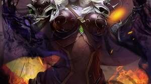 Digital Art Artwork Portrait Display Video Games Women Warcraft World Of Warcraft White Hair Red Eye 2292x3240 Wallpaper