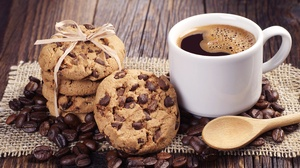 Coffee Coffee Beans Cookie Cup 4288x2848 Wallpaper
