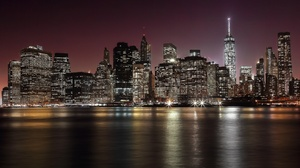 Building City New York Night Skyscraper 2500x1667 wallpaper