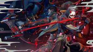 Genji Overwatch Hanzo Overwatch 2880x1620 Wallpaper