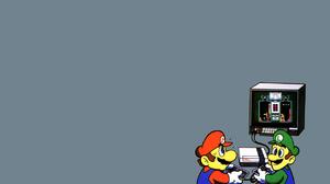 Luigi Mario 1280x1024 Wallpaper