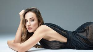 Alex Siracusano Model Women Blonde Blue Eyes Mouth Lips Lipstick Dress Black Dress Bare Shoulders Ha 3600x2400 Wallpaper