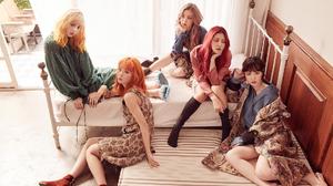 Asian Brunette Girl Band K Pop Korean Pink Hair Red Velvet Redhead Shorts Singer Sitting Skirt Woman 1920x1080 wallpaper